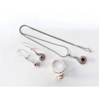 925 Ayar Gümüş Telkari Lale Modeli Üçlü Set